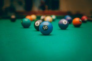 pool balls, pool table, snooker